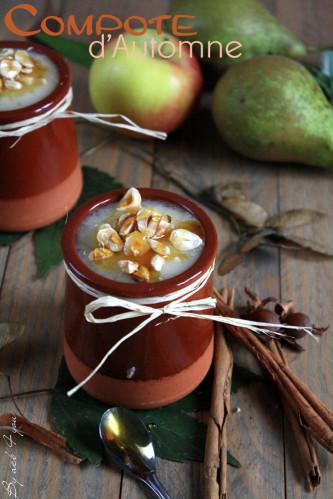 Compote d'automne {pomme, poire et cannelle}