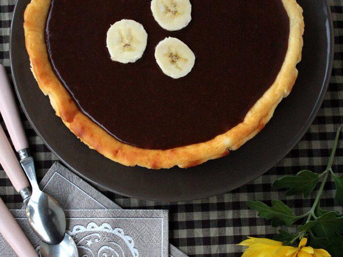 Cheesecake à la banane, sauce au carambar