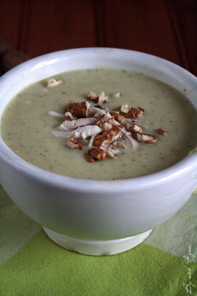 Soupe de panais et courgette au bleu d'Auvergne