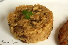 risotto aux cèpes, escalope de veau