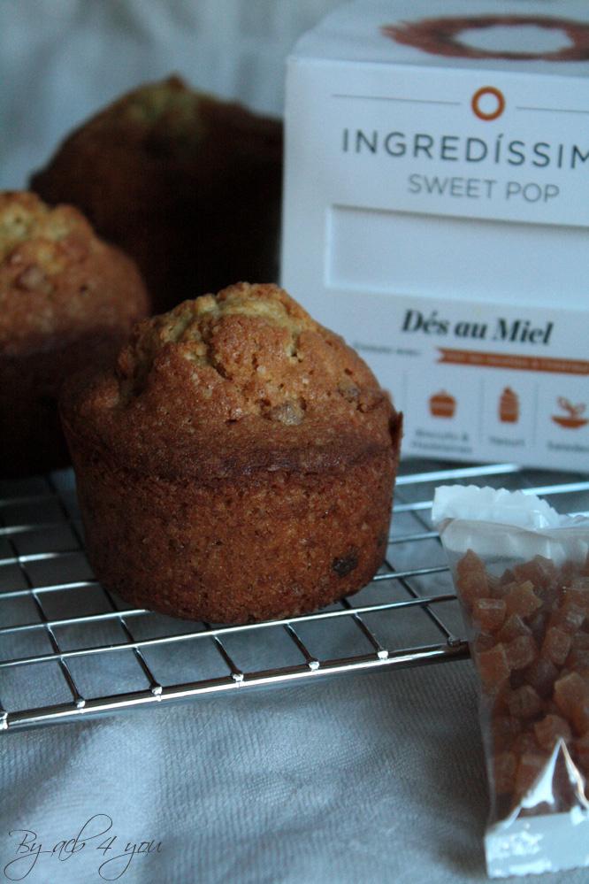 Muffins de Noël comme un flocon