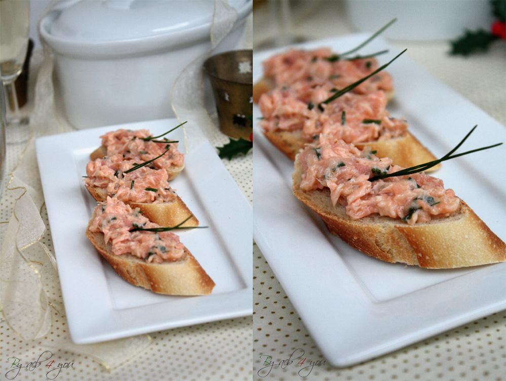 Les rillettes aux deux saumons