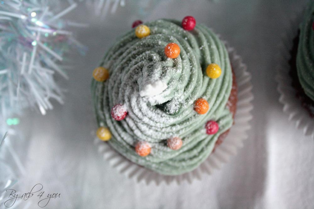 Cupcake sapin à la cannelle et gingembre confit