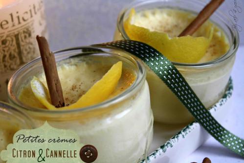 Petites crèmes citron et cannelle