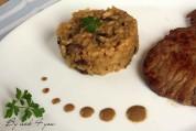 risotto aux cèpes, escalope de veau 1