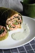 roulé de saumon au chou