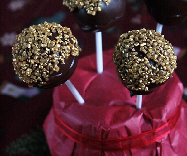 Sucette au calisson et chocolat