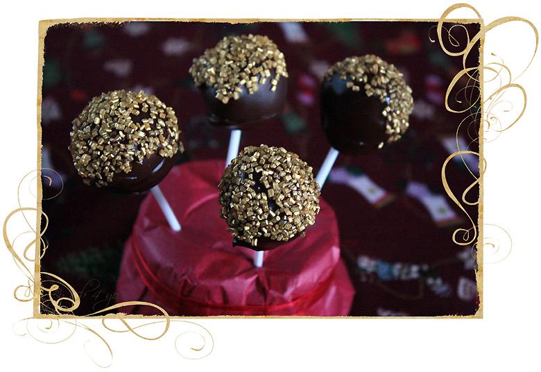 Sucette au chocolat fourré à la crème de calisson