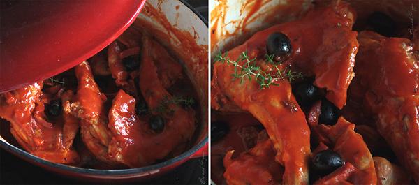 Lapin aux olives et au chorizo ou ce qu'il reste du lapin tueur {sacré Graal}