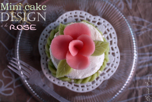 mini cake design à la rose a
