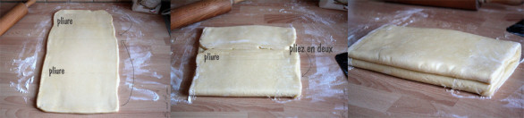 Réalisation d'une pâte feuilletée inversée