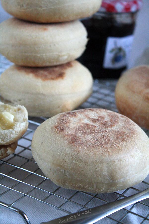 Muffins anglais au levain