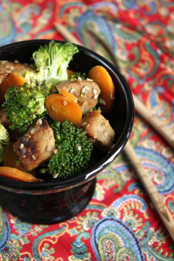 Sauté de porc au sésame et aux légumes