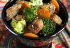 Sauté de porc au sésame et petits légumes