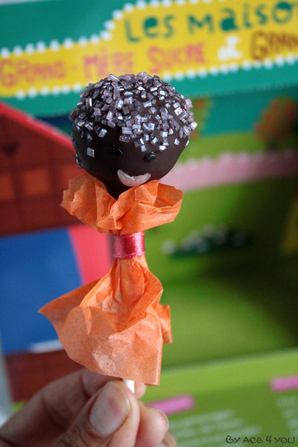 Pop cake au dulce de leche et chocolat : Grand-père chocolat et grand-mère sucre
