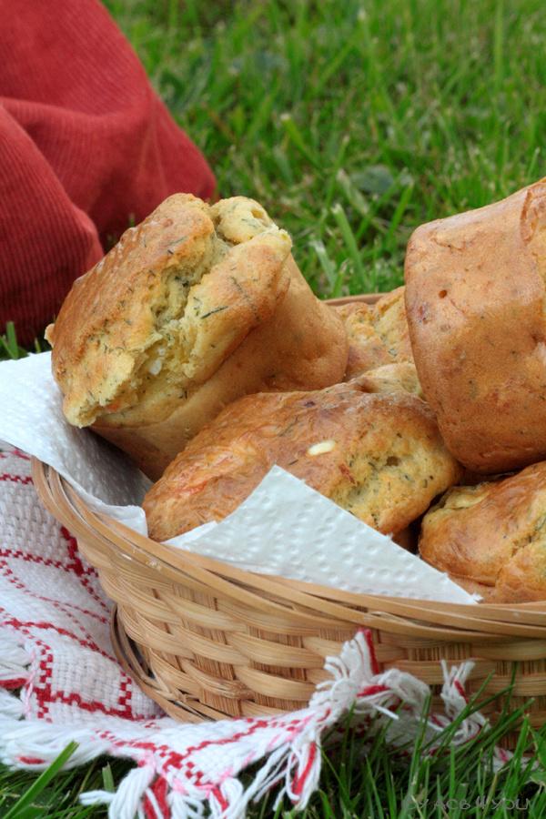 Muffins au saumon, chèvre et aneth