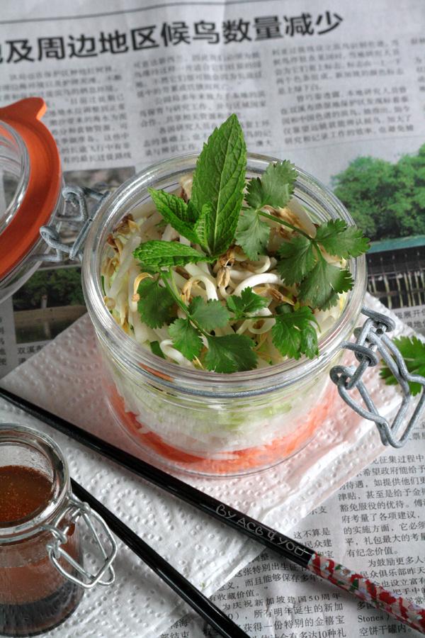 Comme une salade thaï dans son bocal