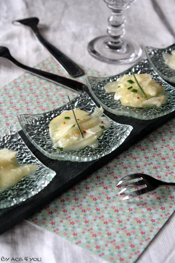 Carpaccio d'asperges blanches