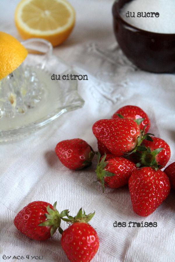Sorbet pure fraise