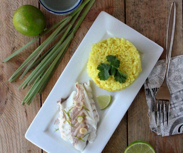 Dorade à la citronnelle et riz coco