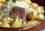 Rôti de porc à la moutarde aux zestes de citron et thym