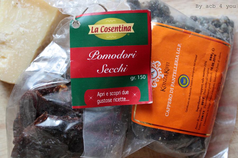 Risotto aux tomates séchées, câpres et pépites d'Aoste