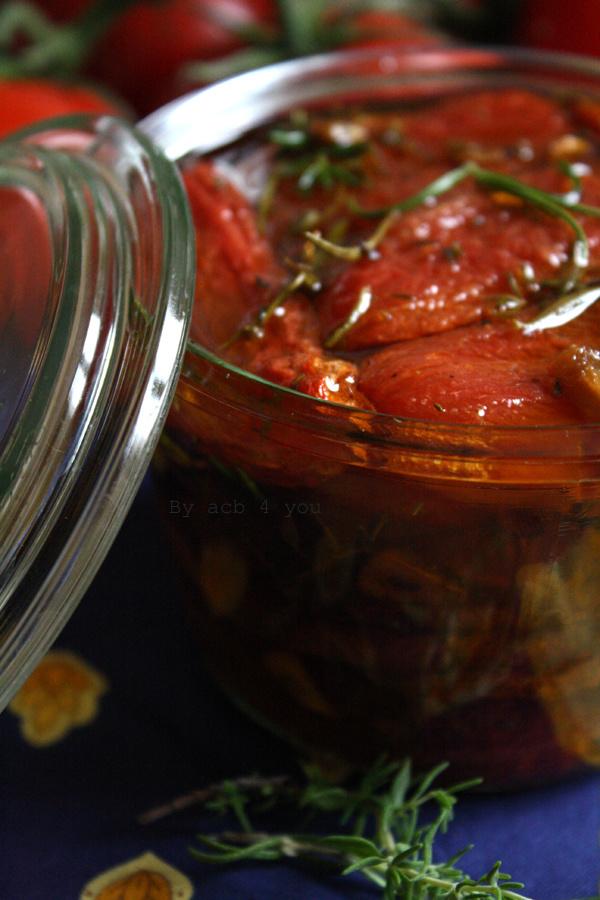 Tomates confites maison