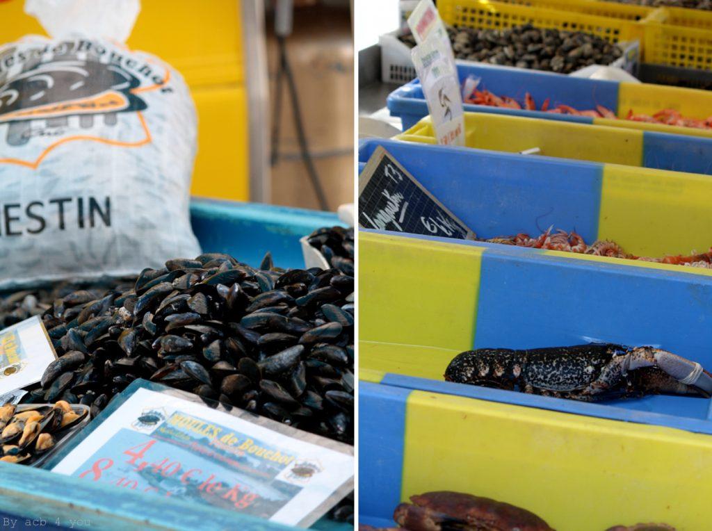 Poissonnier sur le marché de Saint Gildas de Rhuys