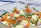 Salade de pomme de terre au haddock et salicorne