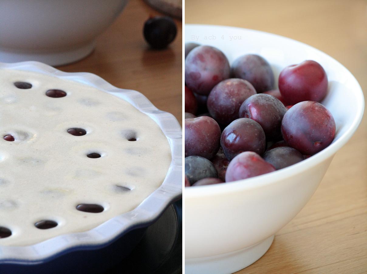 Flan aux prunes et spéculoos