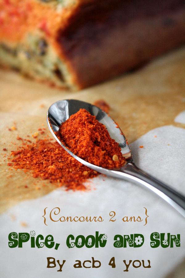Spice, cook and sun {concours 2 ans}