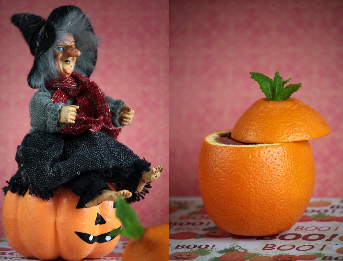 Mousse chocolat et noix de coco pour Halloween