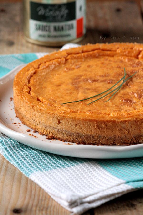 Cheesecake sauce Nantua aux écrevisses