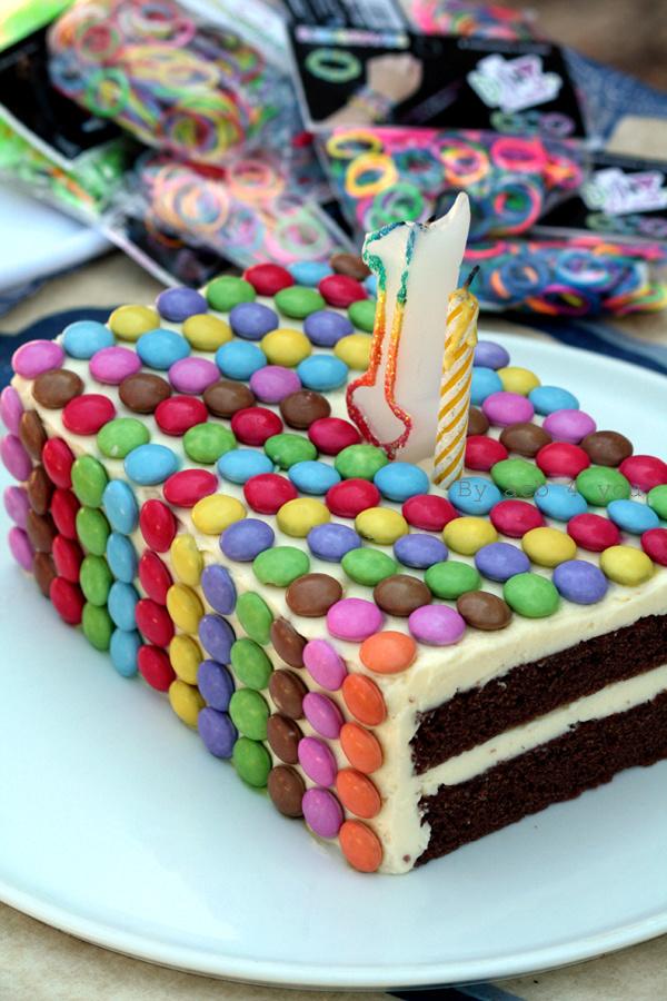 Gâteau d'anniversaire aux Smarties®