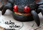 Black spider burger au saumon
