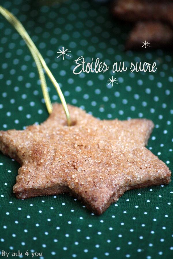 Etoiles au sucre biscuits de Noël