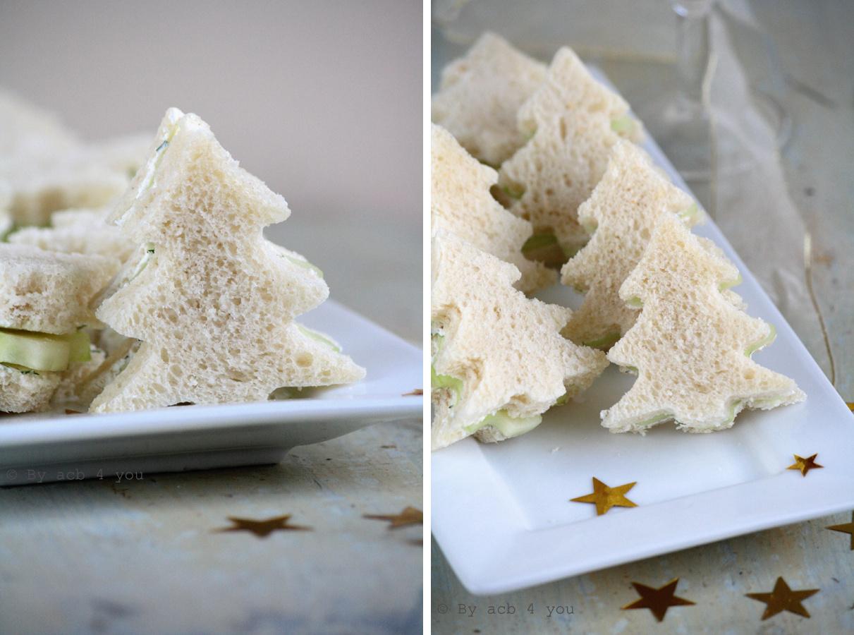 Sandwich au concombre pour l'apéro
