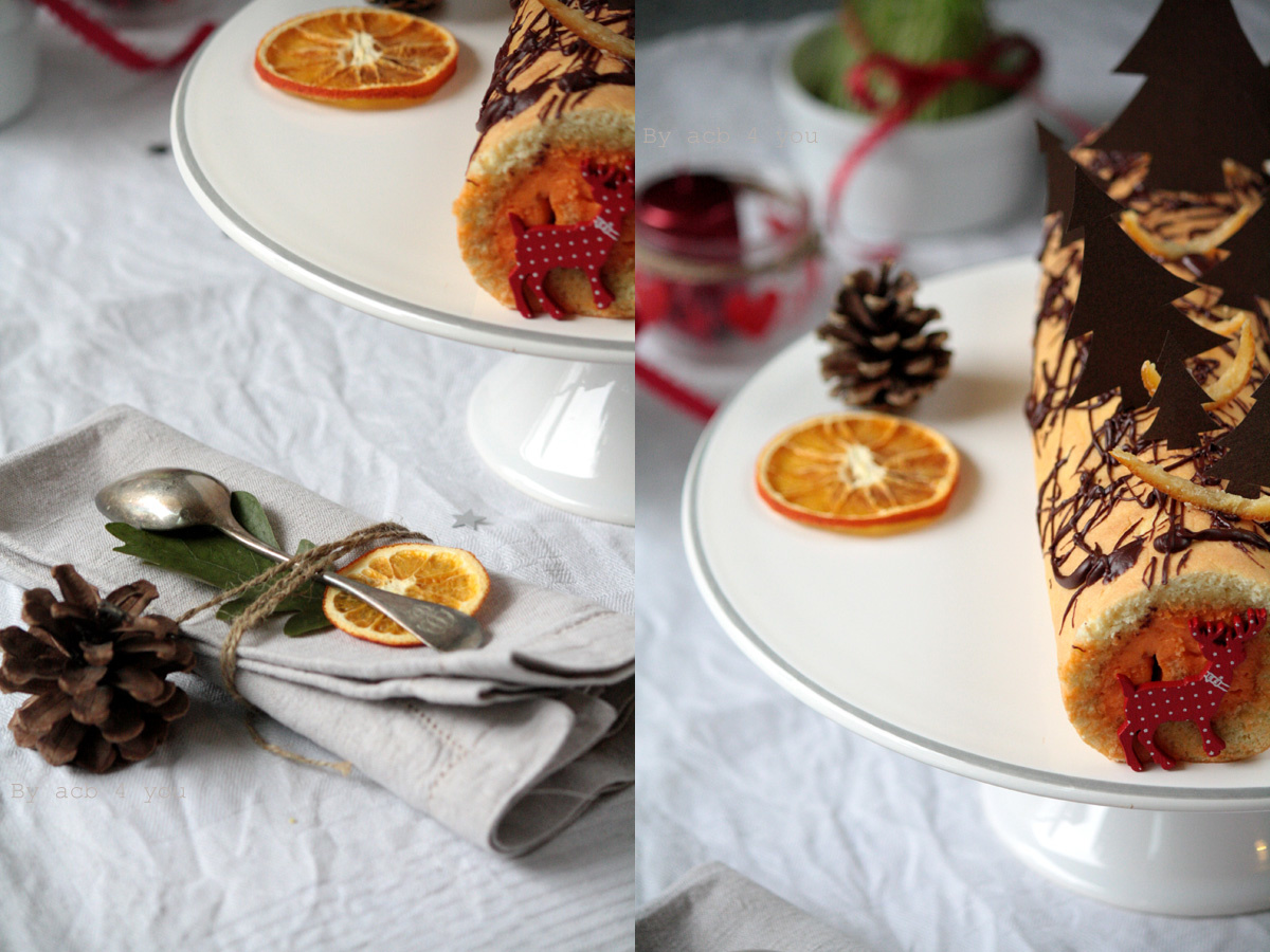 Bûche à la mandarine et grand Marnier