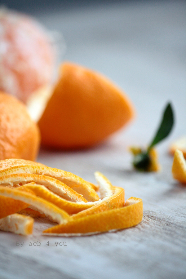 Ecorces de mandarine confites