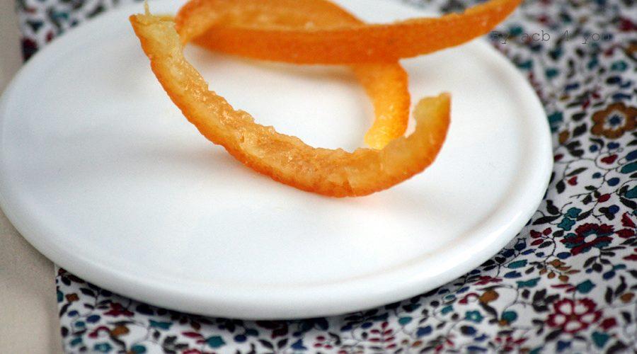 Écorces de mandarine confites