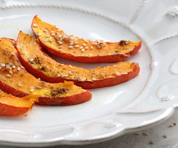 Potimarron rôti aux épices