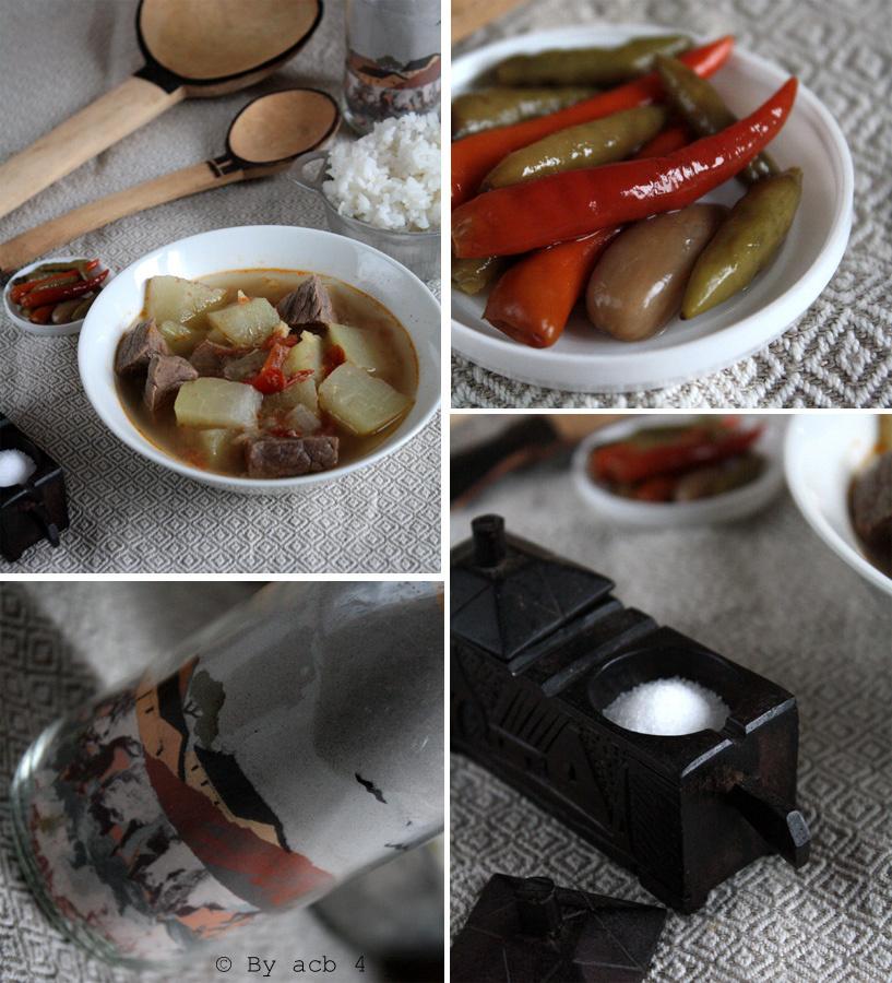 Bœuf au chouchou (christophine ou chayote) et gingembre