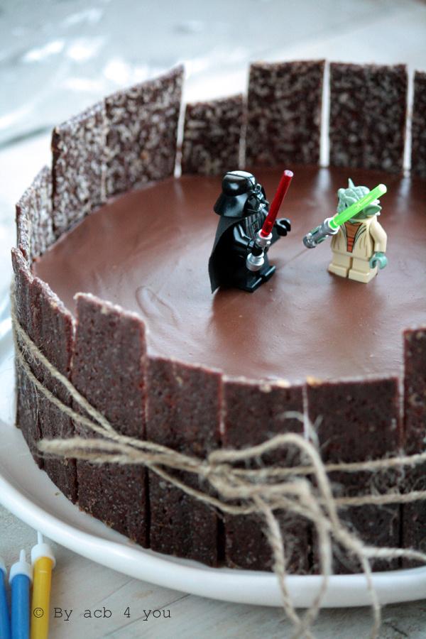 Gâteau au chocolat anniversaire Star wars