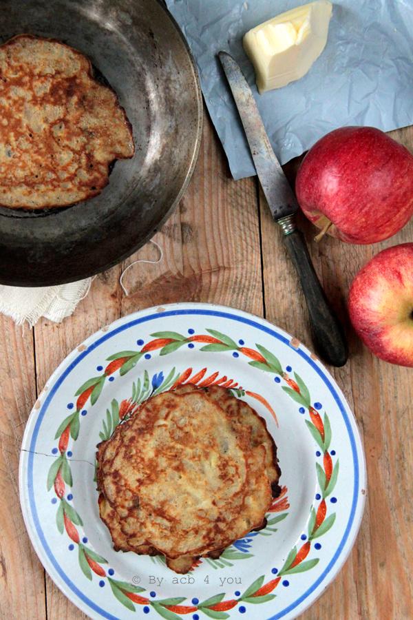 Les petites galettes aux pommes pour la Chandeleur