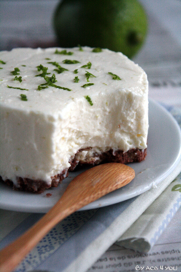 Cheesecake sans cuisson chocolat-citron vert