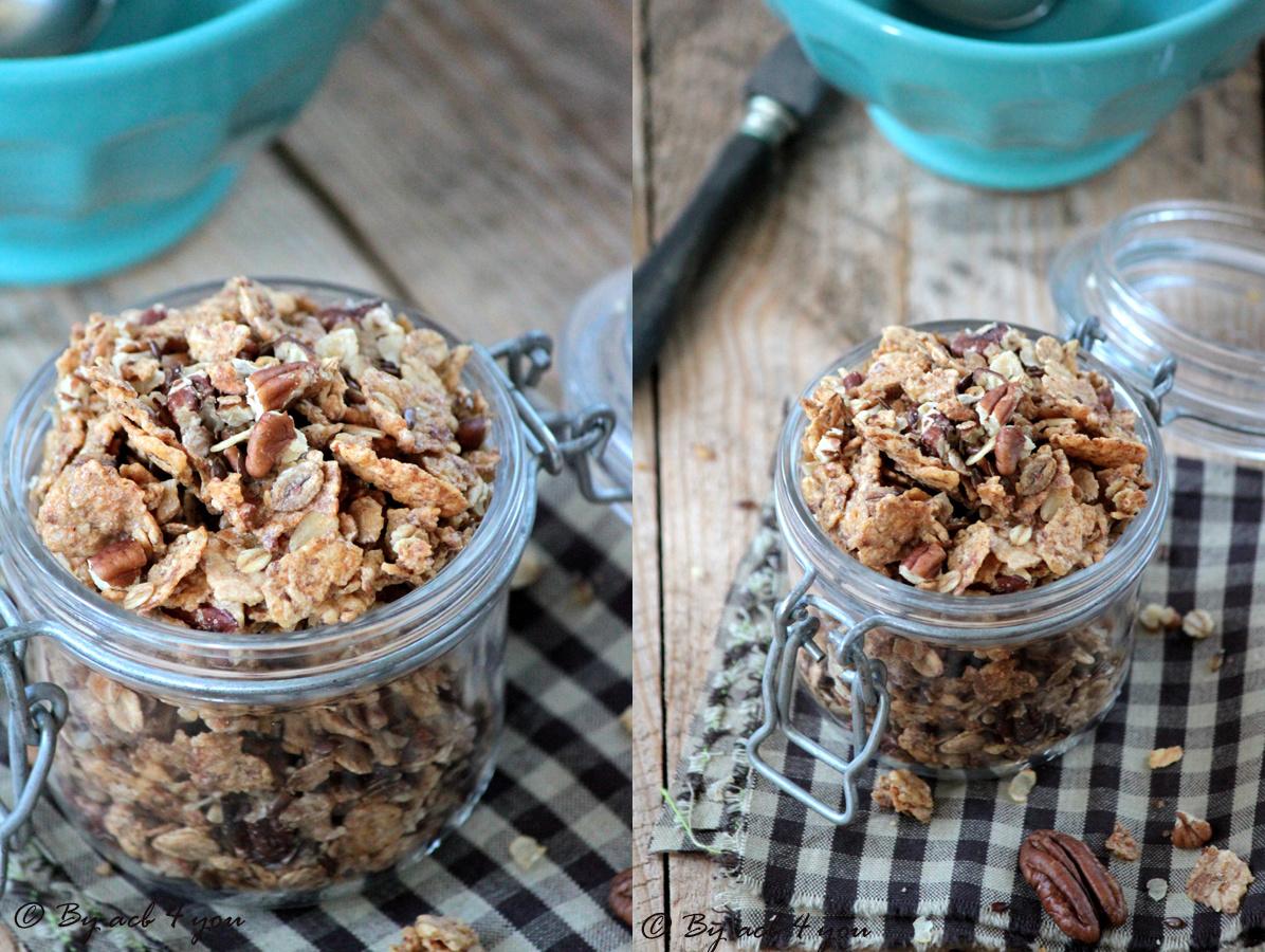 Granola aux graines de lin, noix de pécan et sirop d'érable