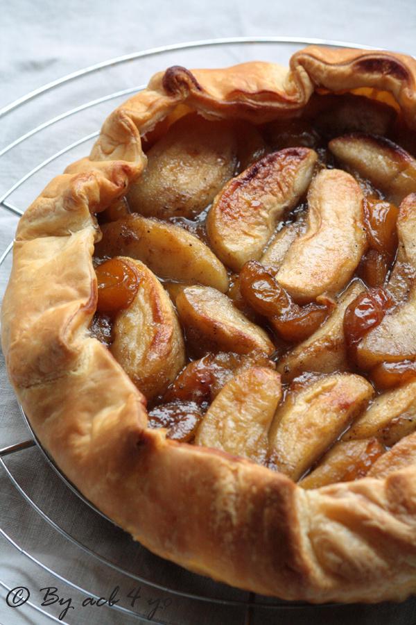 Tarte rustique aux pommes et mirabelles