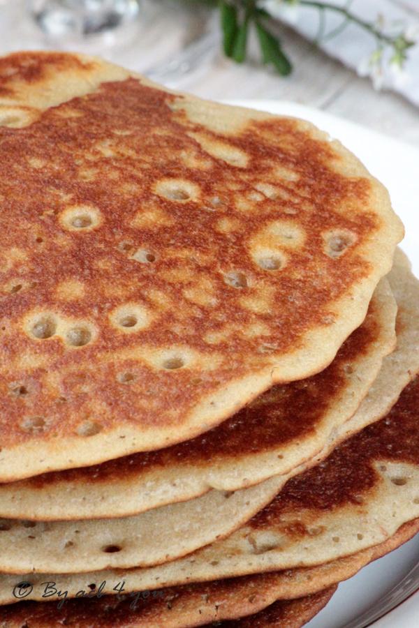 Pancake rhum raisin au levain