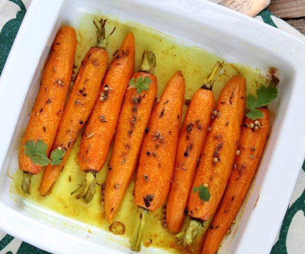 Carottes rôties au garam masala