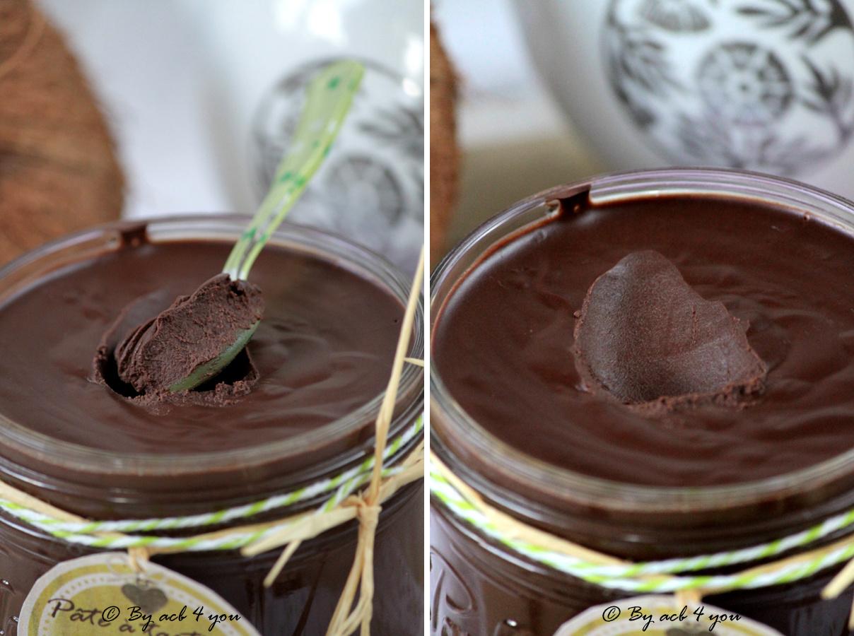 Pâte à tartiner au chocolat, noix de coco et fève tonka